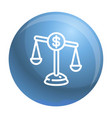 money balance icon outline style vector image vector image