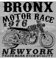 Motorcycle T shirt graphic design vector image vector image
