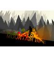 mountain bike scene vector image vector image