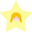 my happy shining star girl vector image vector image
