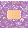 Night butterflies frame seamless pattern vector image