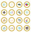 printing icon circle vector image vector image