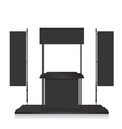 Promotion counter black and blank flag vector image vector image