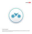 retro bike icon - white circle button vector image
