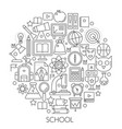 round line concept for back to school vector image