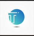 round symbol letter t design minimalist vector image vector image