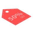 sale off badge icon isometric style vector image vector image