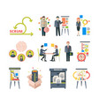 scrum methodology project visualization vector image