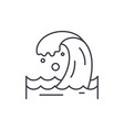 sea wave line icon concept sea wave linear vector image