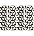 Seamless Black and White Hexagonal Shape vector image vector image