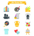 set of art icons in flat design atist ink graphic vector image vector image
