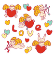 set of funny cupid vector image