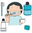 set of oral care vector image