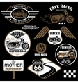 set vintage motorcycle badges vector image vector image