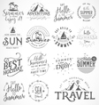 Summer Calligraphic Designs in Vintage Style vector image vector image