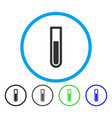 test tube rounded icon vector image vector image