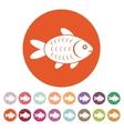 The fish icon Fish symbol Flat vector image