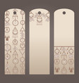 labels for clothes in boho style three sticker vector image