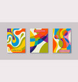 abstract creative templates cards color covers vector image