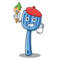 artist spatula character cartoon style vector image