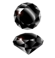 black diamond vector image