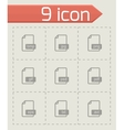 black file format icons set vector image vector image