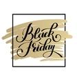 black friday design on gold sale discount vector image