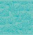 blue seamless repeat pattern with growing vector image vector image