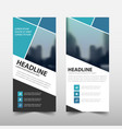 blue square roll up business brochure flyer vector image vector image