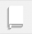 book sign white icon with soft shadow on vector image vector image