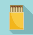 box matches icon flat style vector image vector image