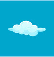 cartoon icon of small light blue flying cloud sky vector image