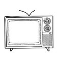 cartoon image of tv icon television symbol vector image vector image