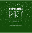 christmas party green snowflake background vector image vector image