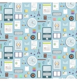 Colored Seamless Pattern Office Supplies Flat vector image