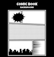 comic book pop art monochrome mock up vector image