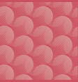 coral color round shape 60s style tracery vector image