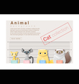 Cute animal family background with Cats 3 vector image