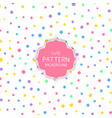 cute circle pattern background vector image vector image