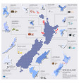 Dot And Flag Map Of New Zealand Infographic Design vector image vector image