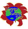 earth day concept planet earth in the form of a vector image vector image