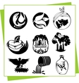 Eco design elements and icons vector | Price: 1 Credit (USD $1)