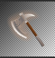 Fantasy medieval tomahawk isolated game element