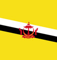 flag of brunei in official rate and colors vector image
