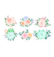 flowers composition colorful flat vector image