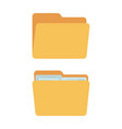 folders - full and empty yellow containers vector image vector image