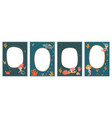 frame set for baby s photo album with cute vector image