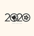happy new 2020 year celebration background vector image vector image