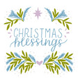 holiday card made hand lettering christmas vector image vector image