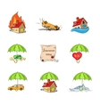 Insurance Security Icons Set vector image vector image
